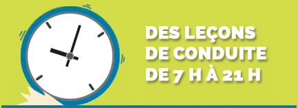 Des horaires pour tous les goûts proposés par l'auto-école CCE à Valence et Portes-lès-Valence dans la Drôme !