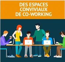 Espaces de coworking conviviaux